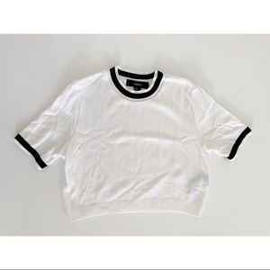 Cropped Knit Short Sleeve